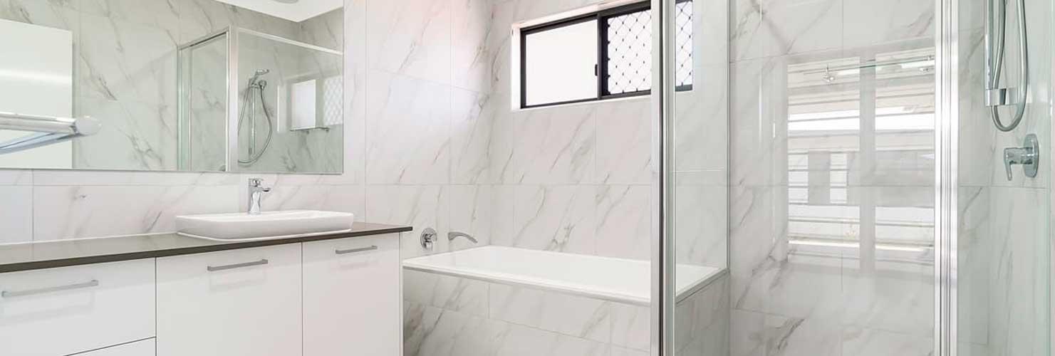Bathroom Renovation Streaky Marble